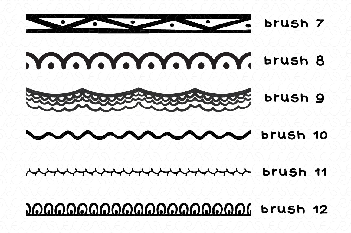 Vector Brushes - Handmade Tribal Style Graphics example image 3