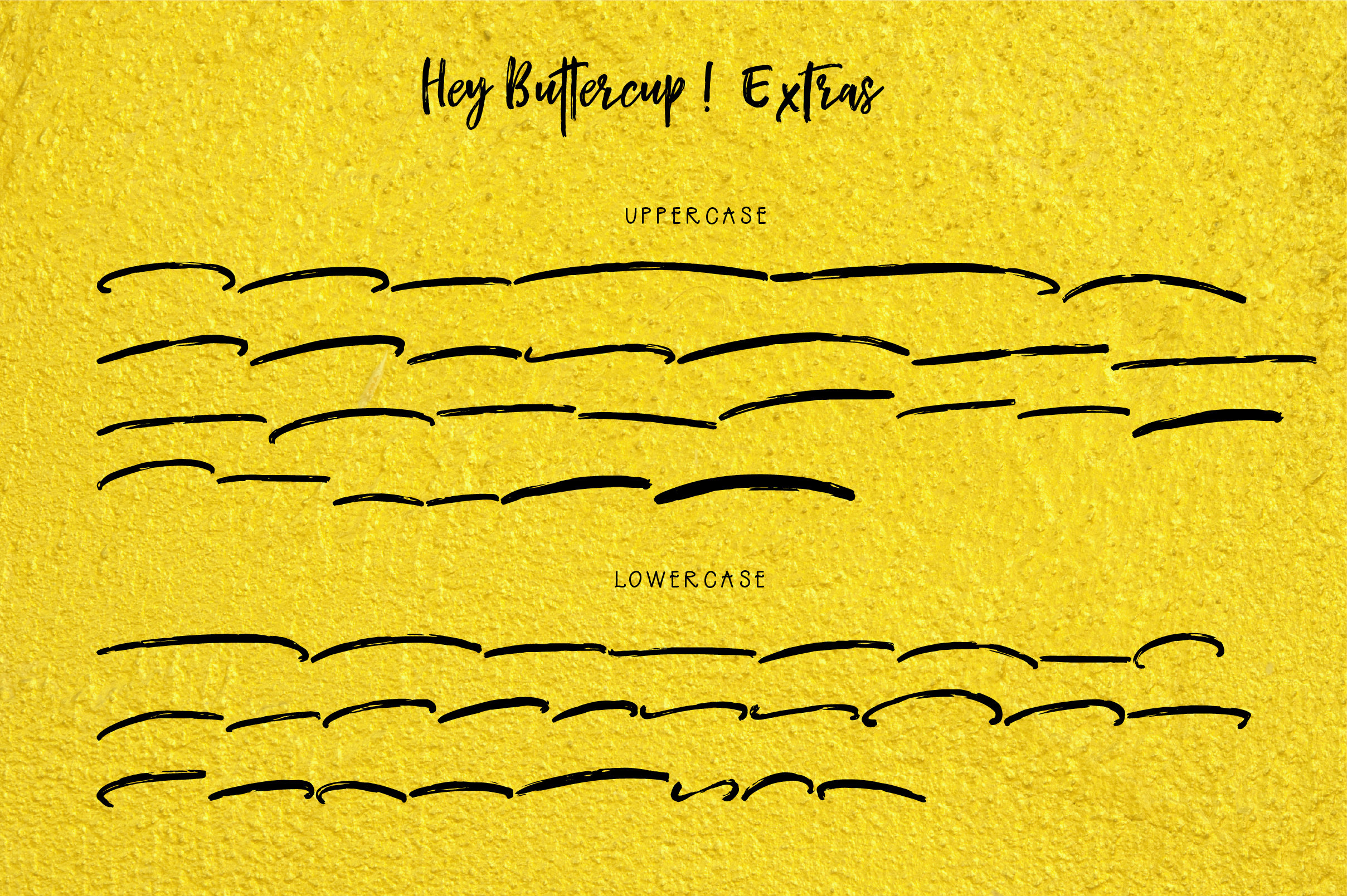 Hey Buttercup! Font  Extras example image 8