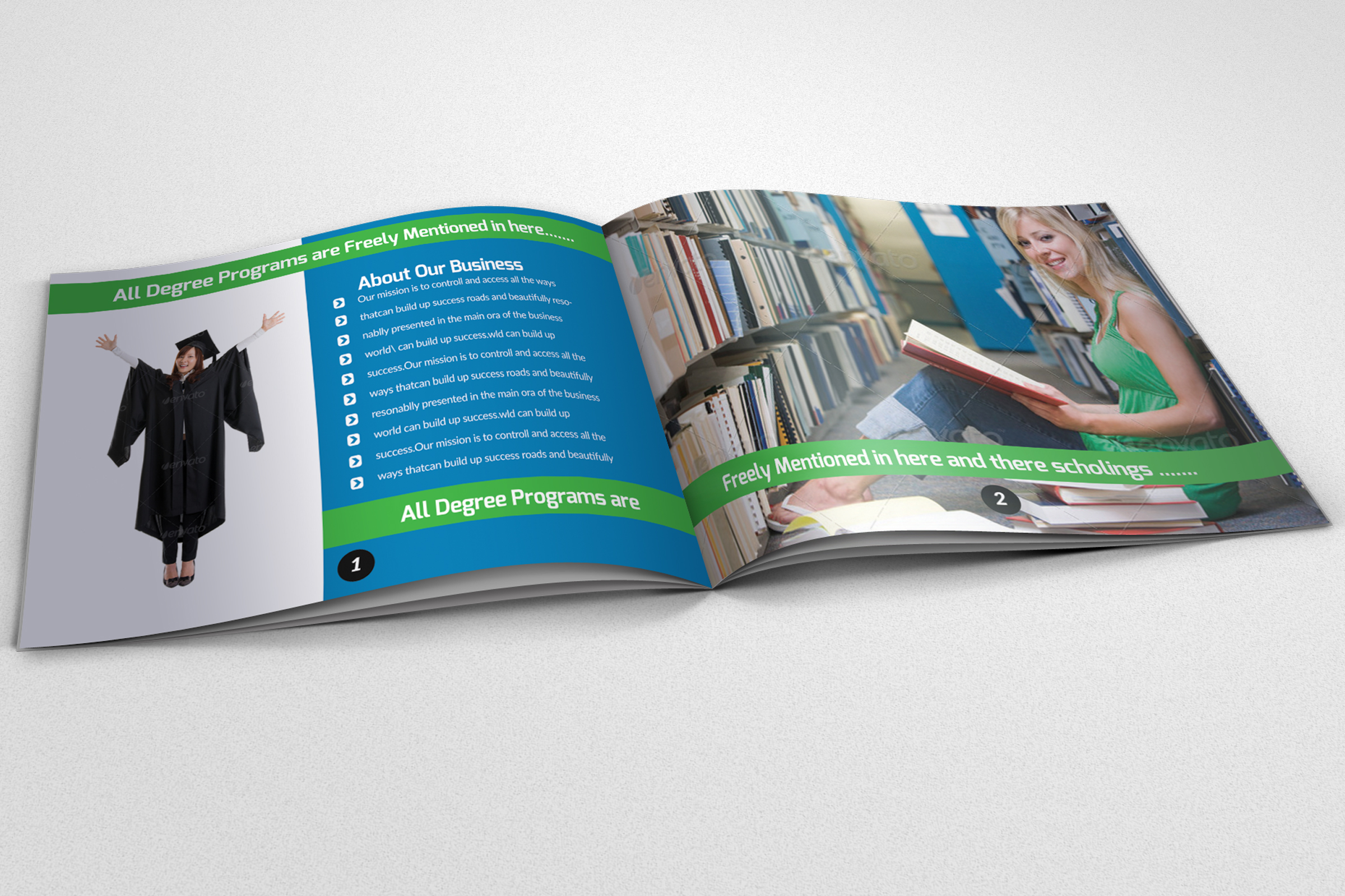 20 Pages Catalogue Education Bifold Brochure example image 4