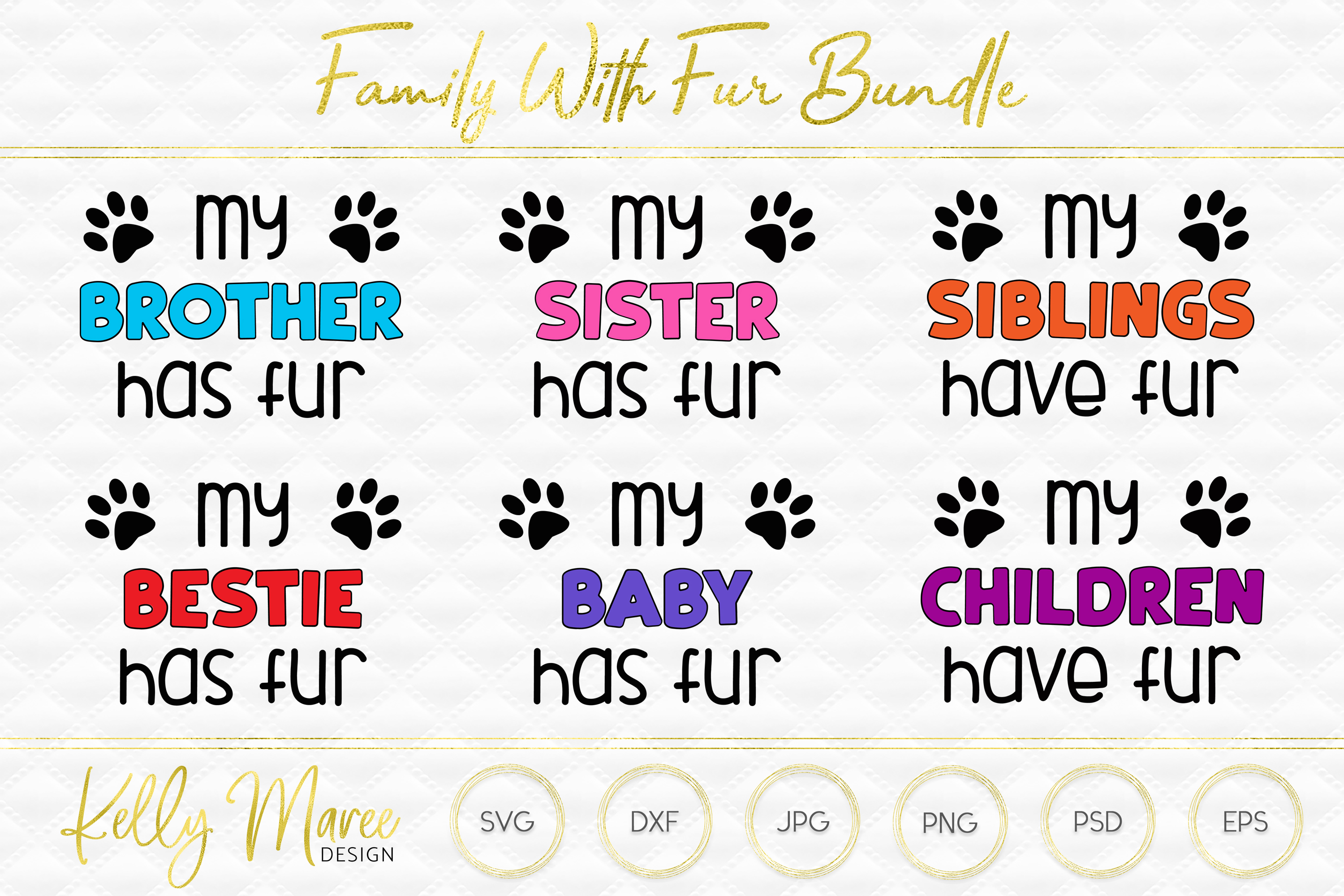 Family With Fur SVG Files Bundle | Dog SVG example image 1