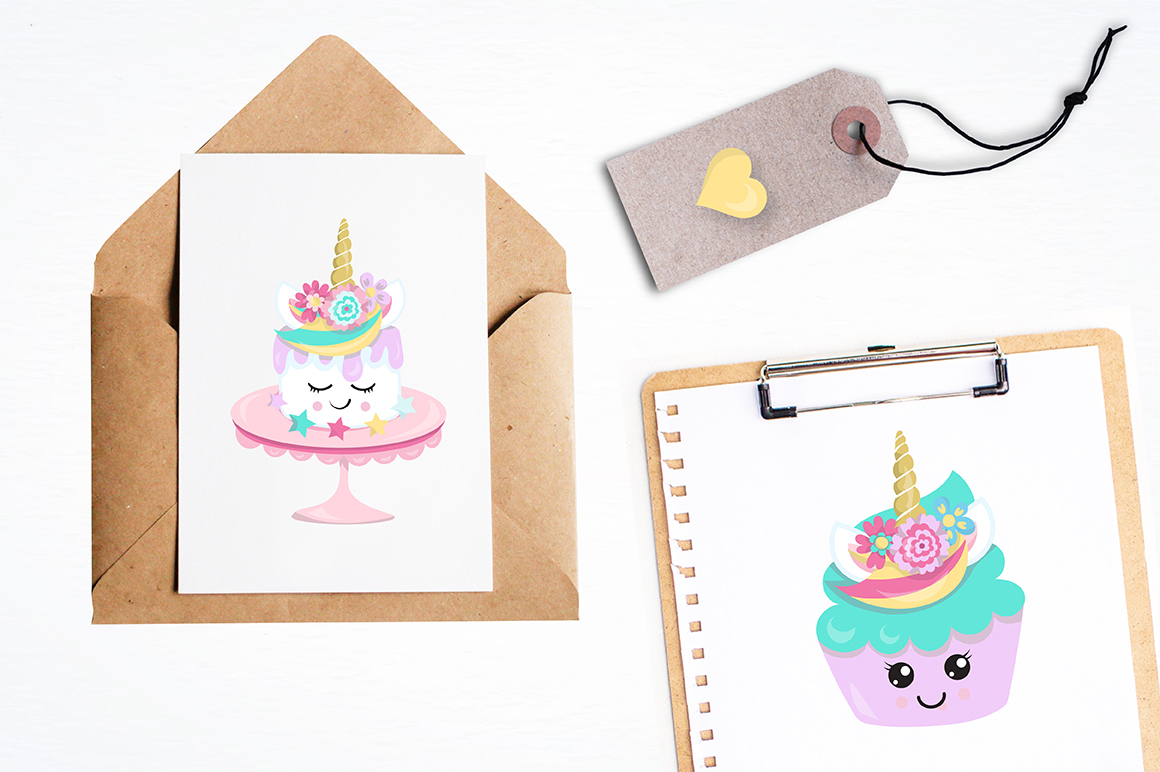 Unicorn sweets graphics and illustrations example image 3
