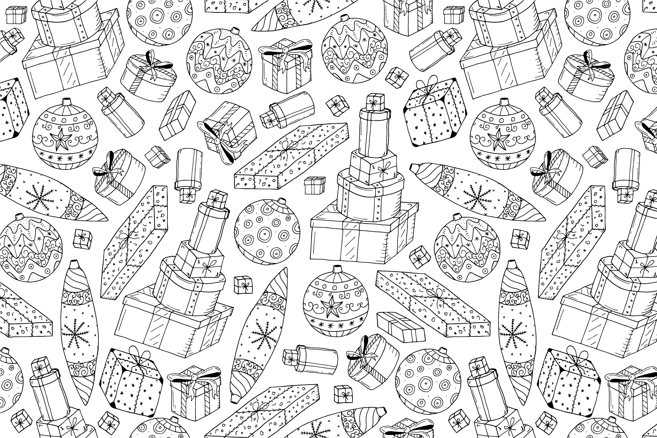 Christmas seamless patterns. example image 9
