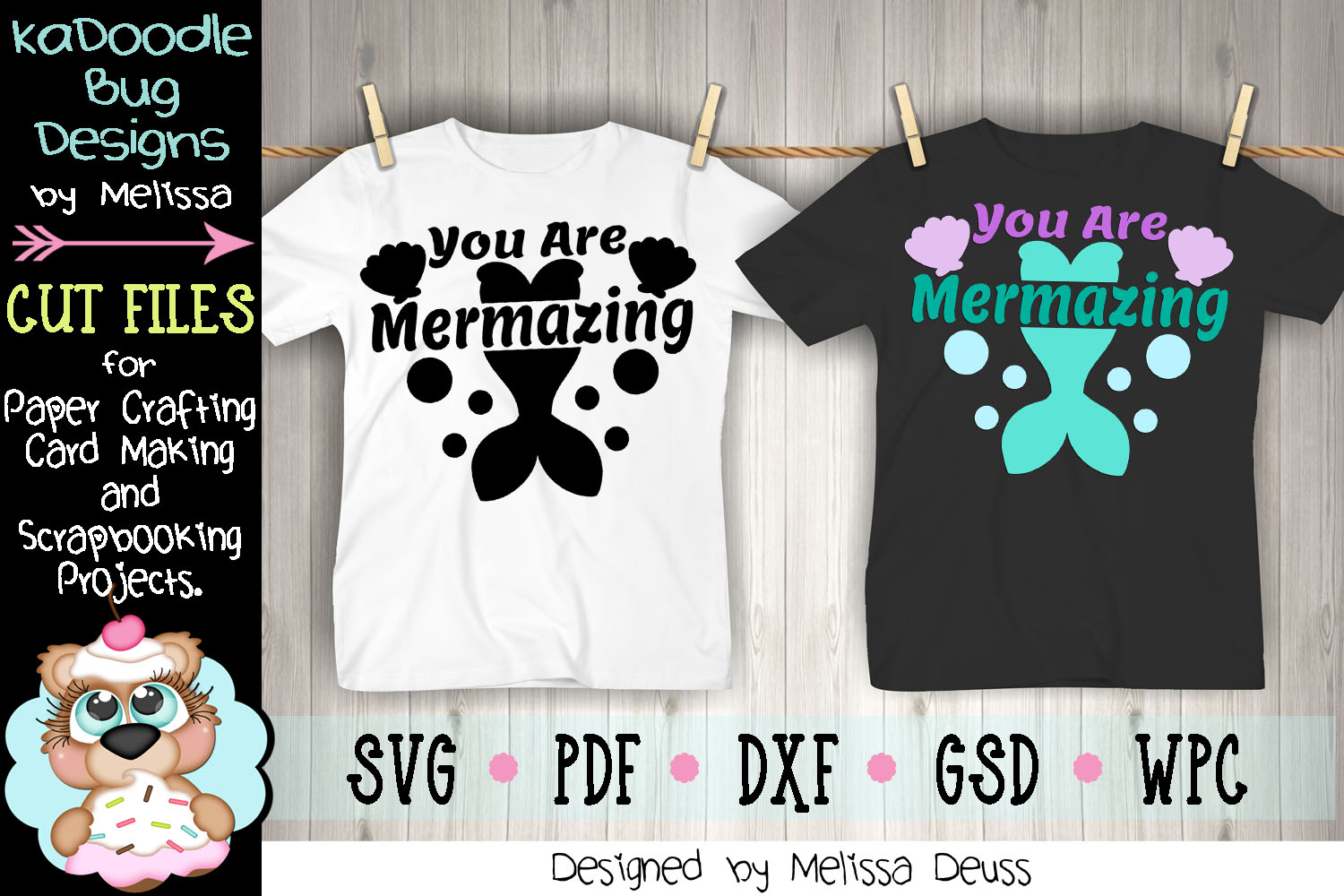 You Are Mermazing Cut File - SVG PDF DXF - Mermaid example image 3