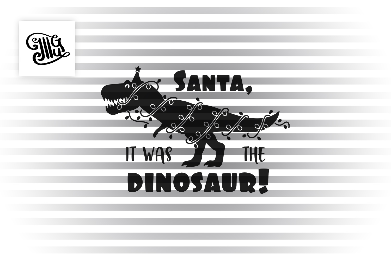 Santa, it was the dinosaur! - kids example image 2