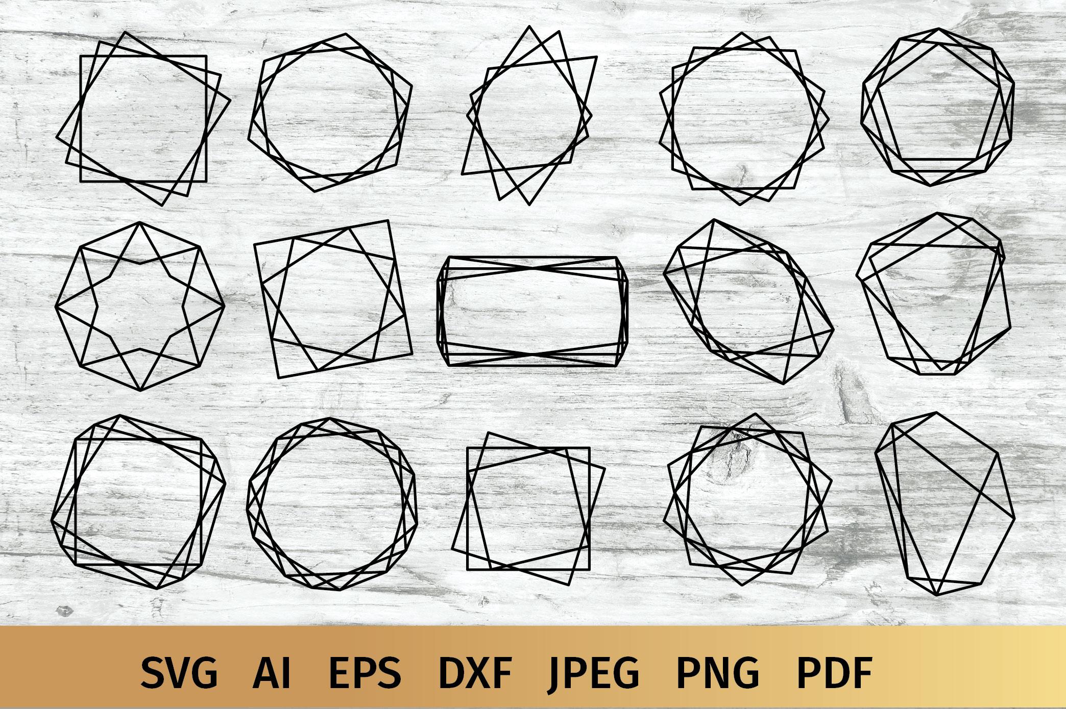 15 Geometric Frames example image 1