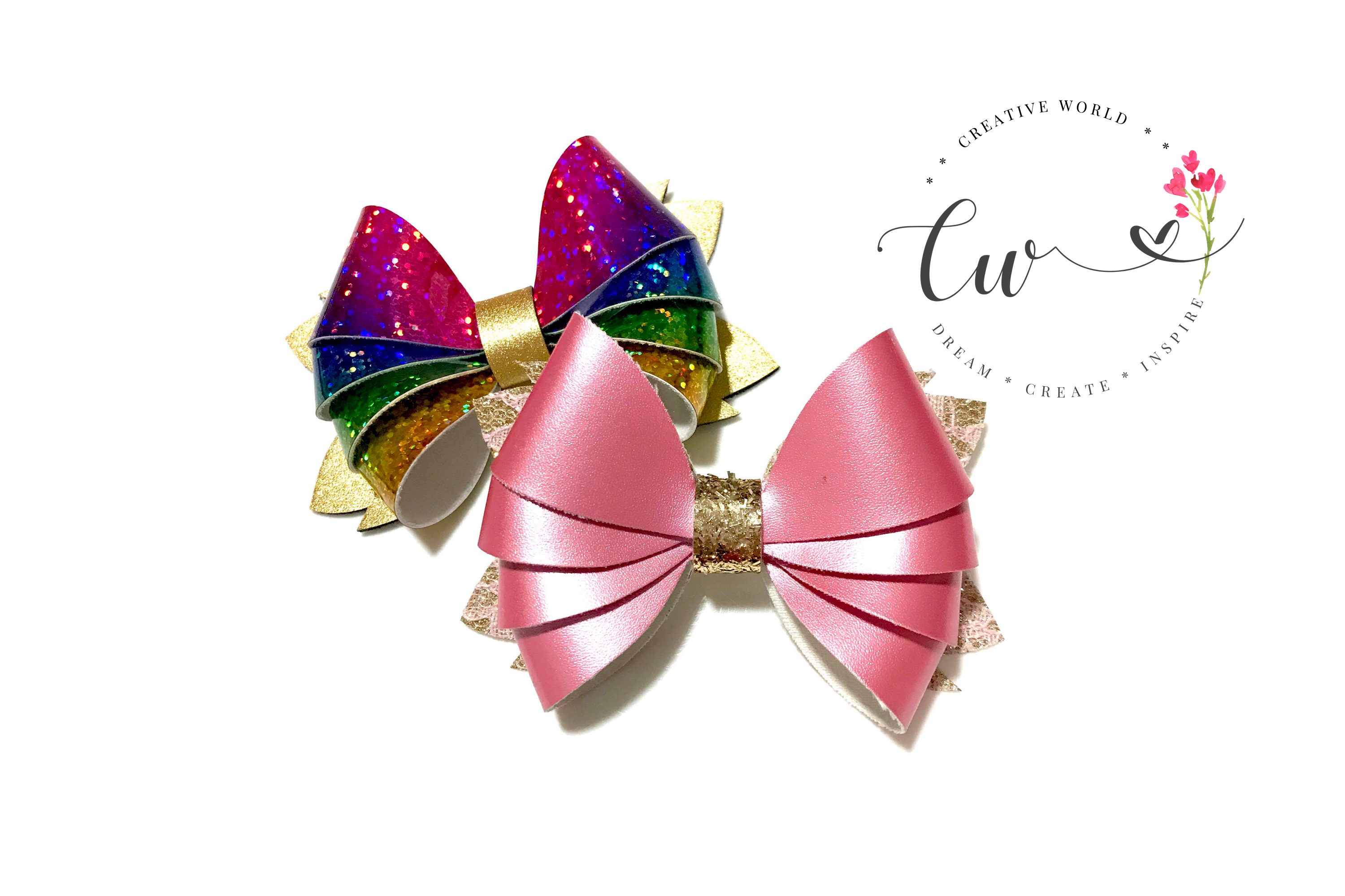 Popular 4 Layer Hair Bow Digital Template |Hair Bow Template example image 4