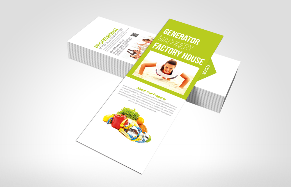 Health & Fitness Rack Card Template example image 3