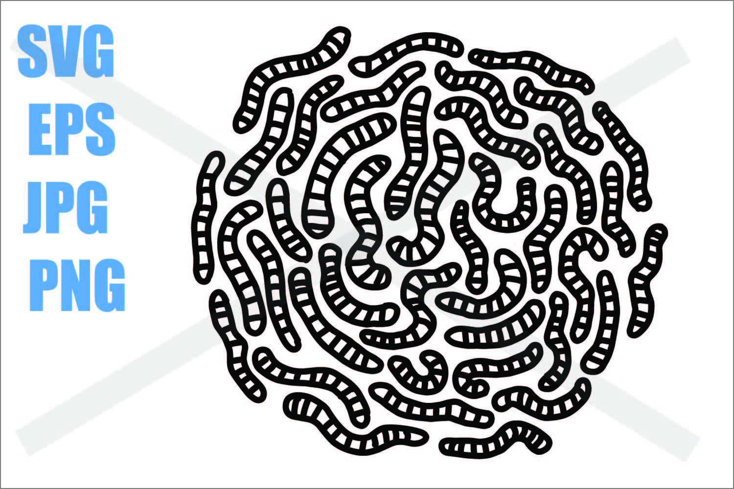 Worms - SVG EPS JPG PNG example image 1