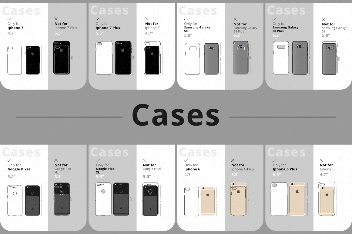 Phone Accessories Customer Guide Info-Graphics Illustrations example image 5
