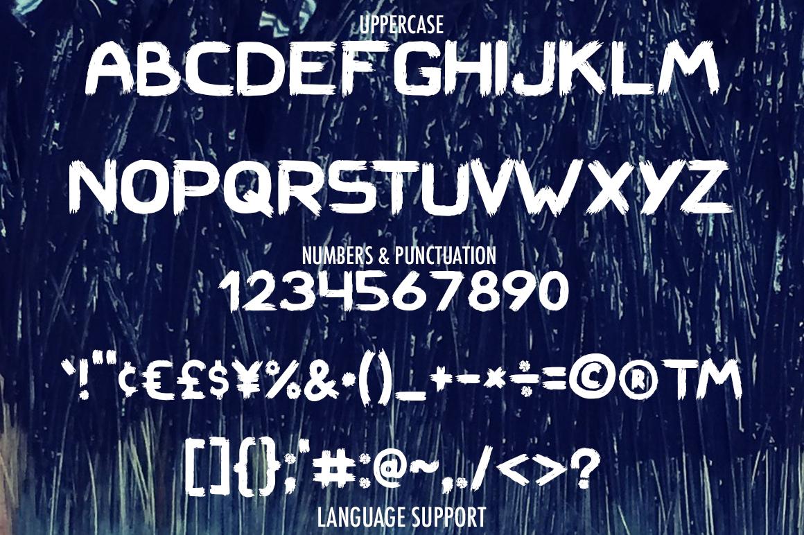 Hard Brush - bold uppercase font example image 4