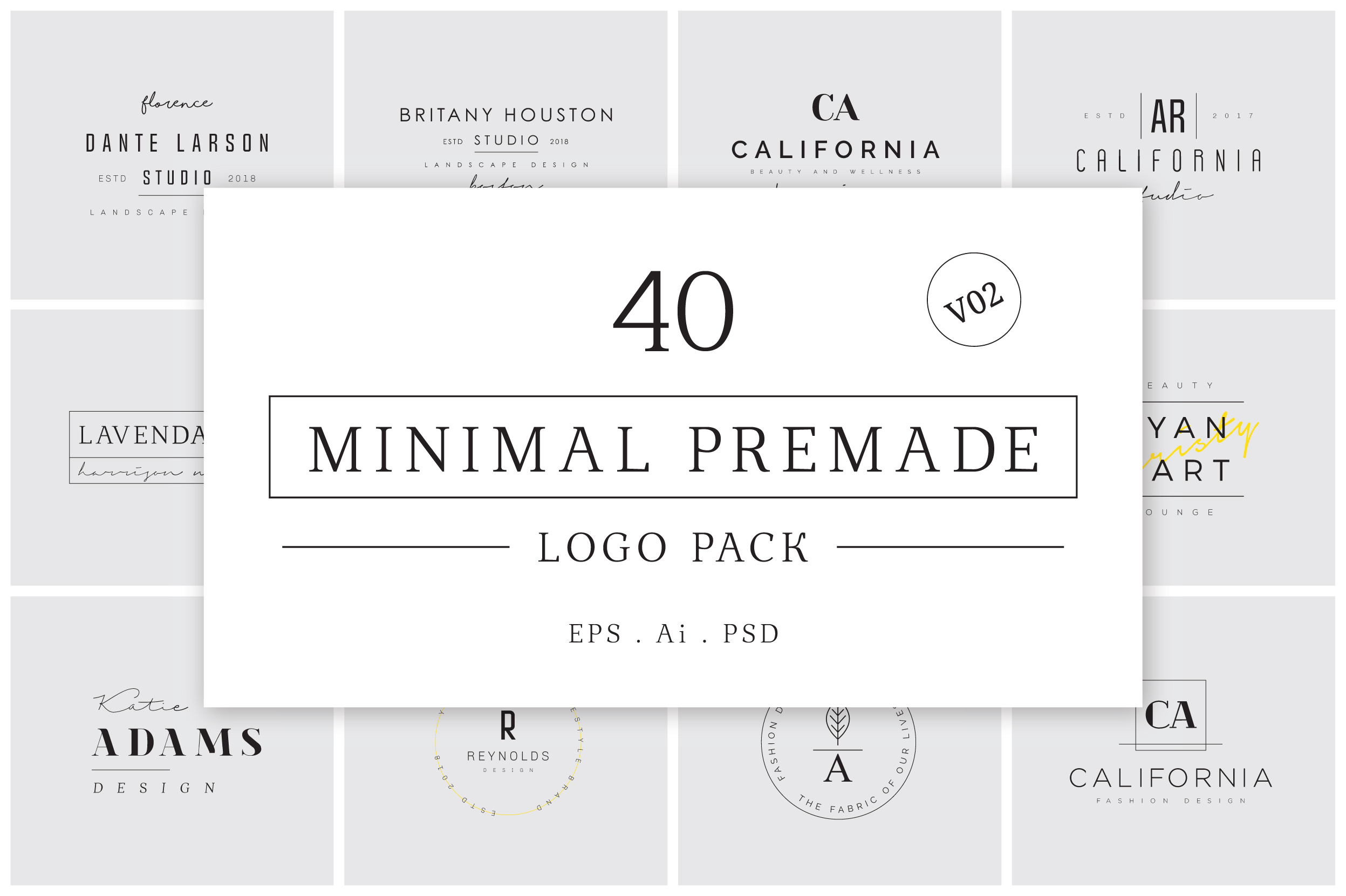 640 Premade Logos Mega Bundle example image 17