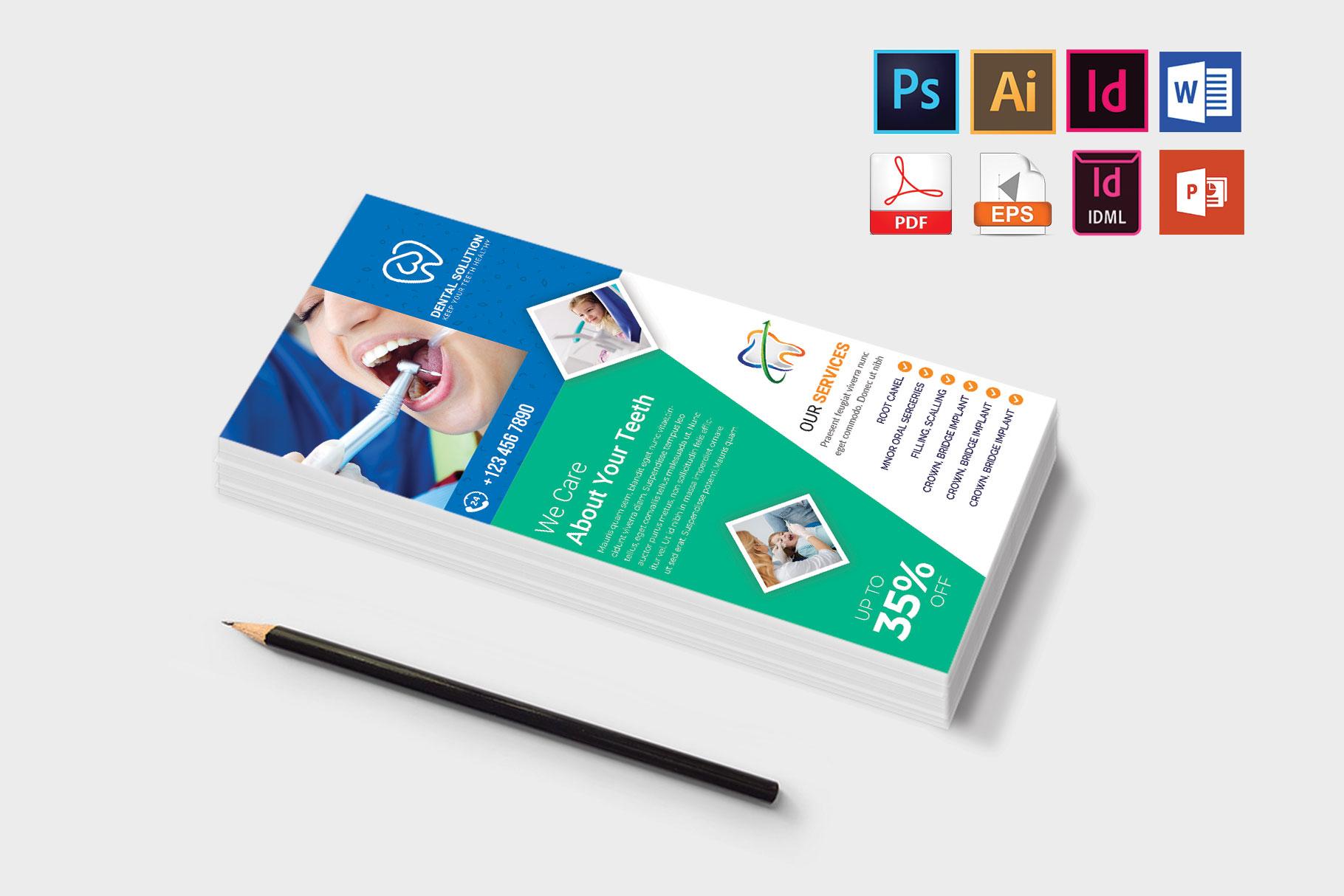Rack Card | Dental DL Flyer Vol-03 example image 3