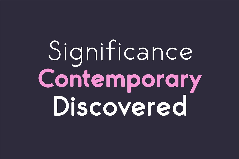 George Round 8 Fonts Round Edge Geometric Typeface example image 11