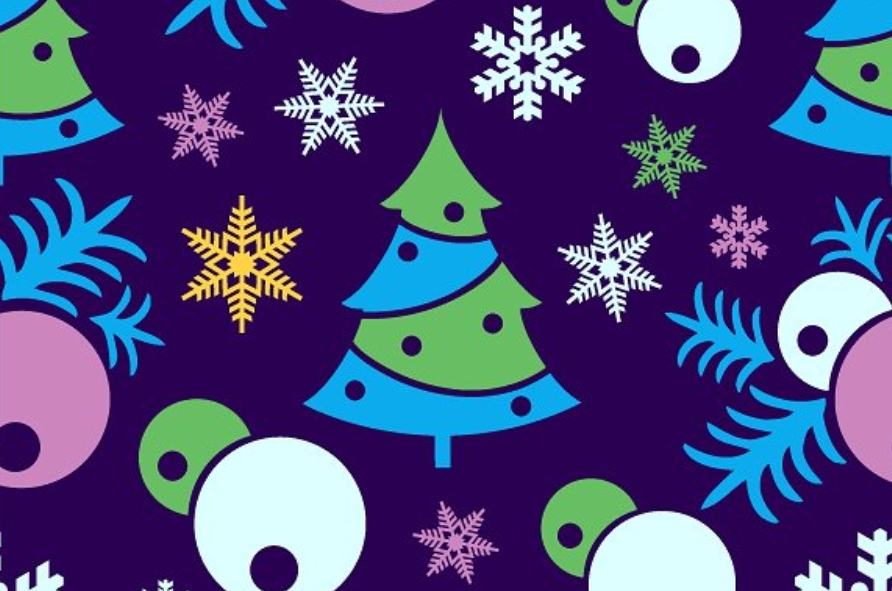 Scrapbooking Christmas seamless pattern example image 3