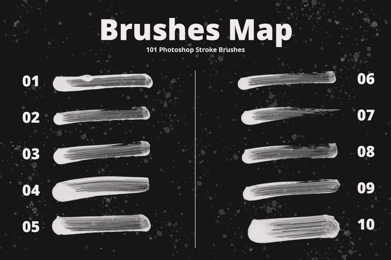 101 Photoshop Paint Stroke Brushes example image 3
