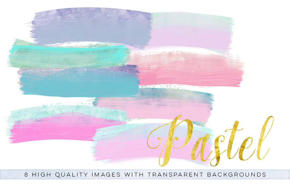 Pastel brush clip art, fairy Watercolor brush strokes, Fairy clip art, Fairy pink brush, wedding invitation, pink brush clipart, pastel mint example image 3