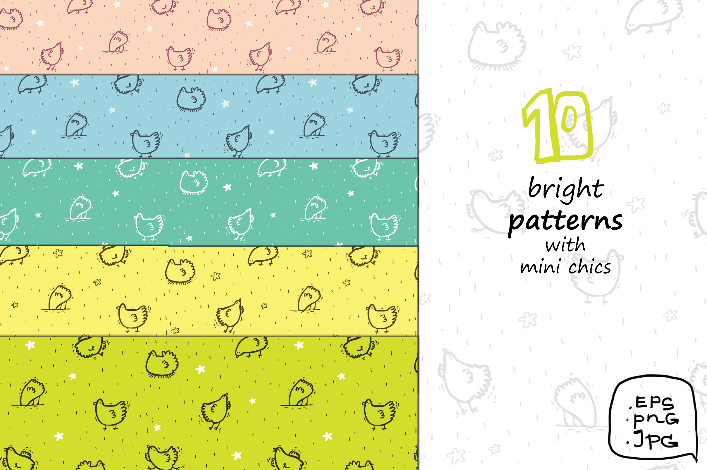 Wise Hens - 32 patterns, prints example image 2