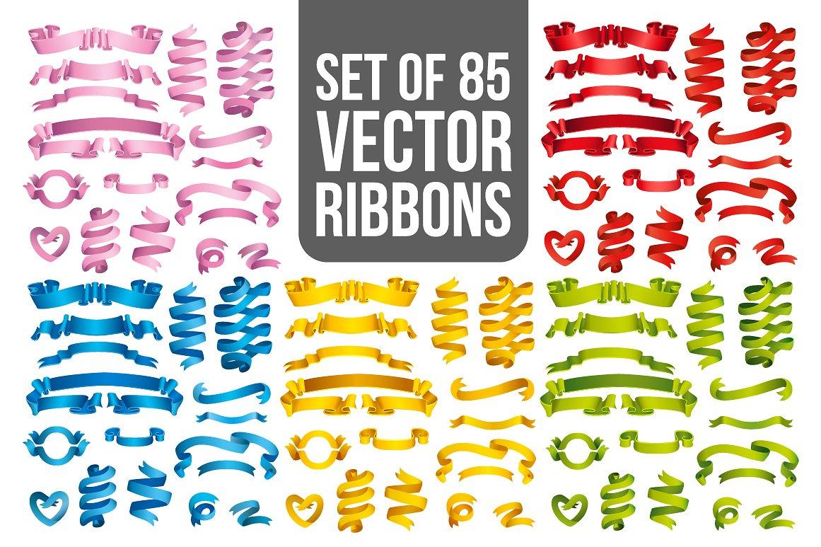 Big Ribbons Set example image 3