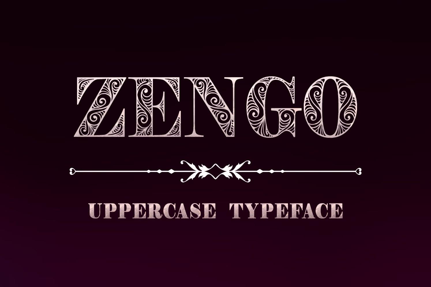 Zengo font example image 4