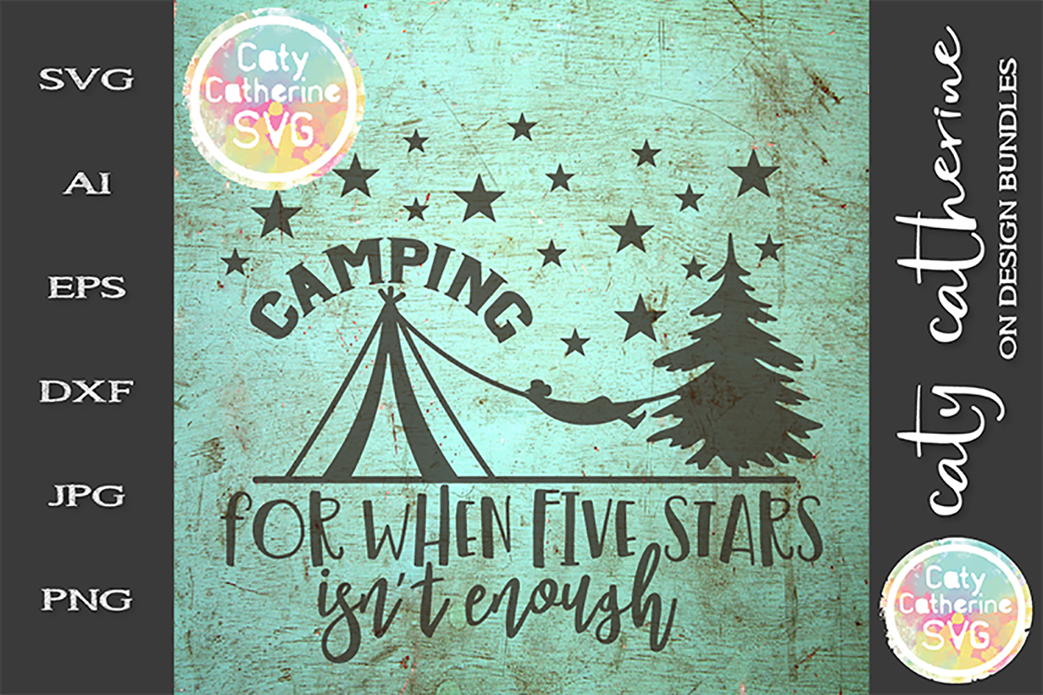 Tent Camping For When Five Stars Isn't Enough SVG Cut File example image 1