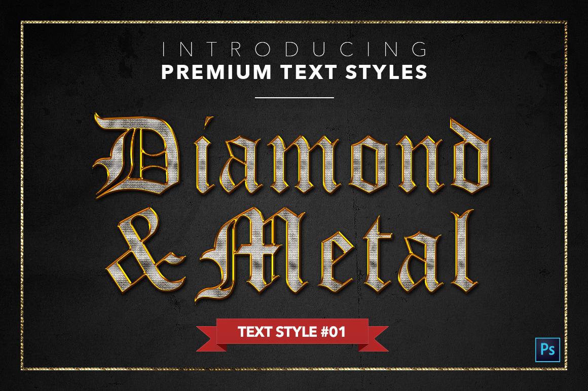Diamond & Metal #1 - 15 Text Styles example image 2