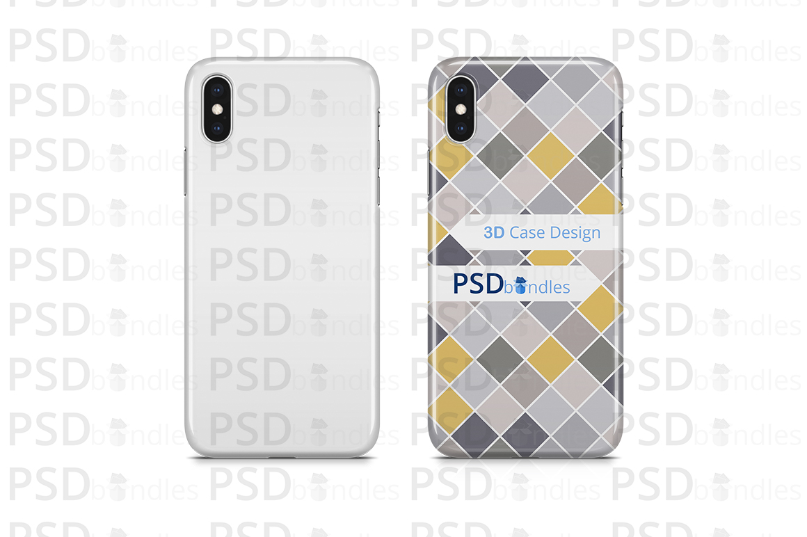 Apple iPhone XS MAX 3d Case Design Mock-up Back View example image 3