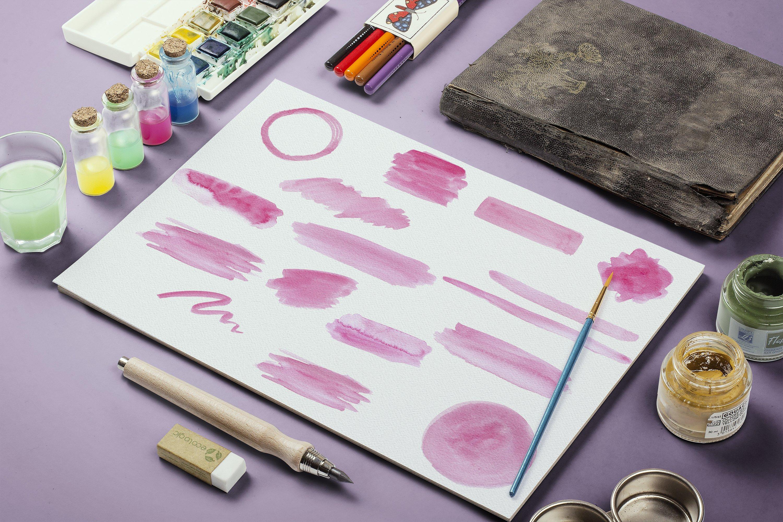 48 Pastel Watercolor Strokes example image 5