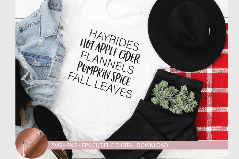 Hayrides Apple Cider Pumpkin Spice Svg Eps Png Fall Design example image 1