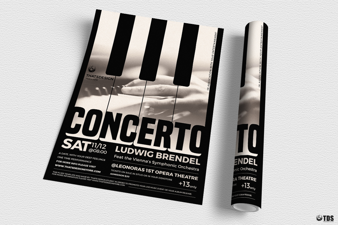 Piano Concerto Flyer Template V1 example image 3
