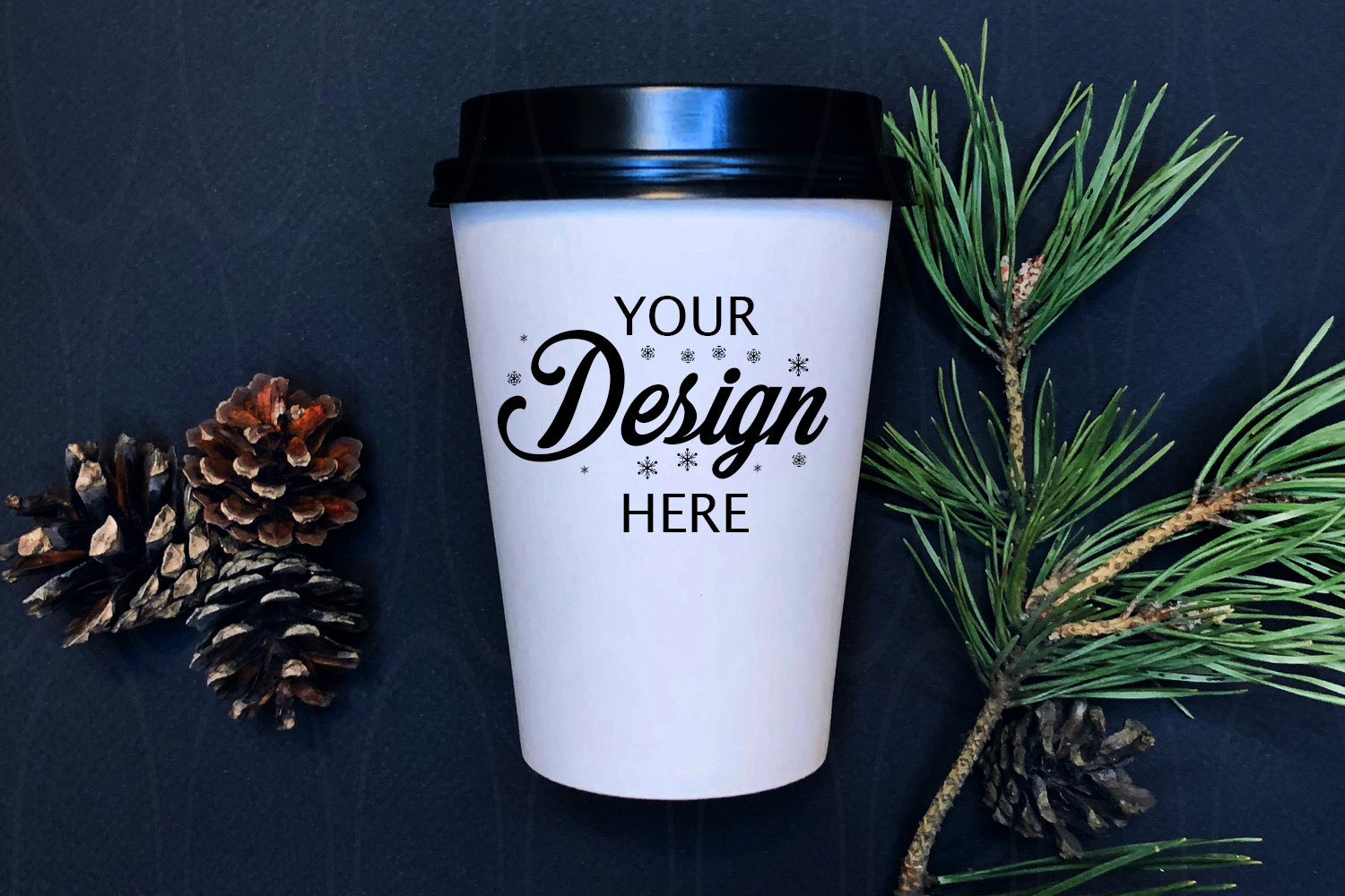 Winter Styled Photography White coffee glass example image 1