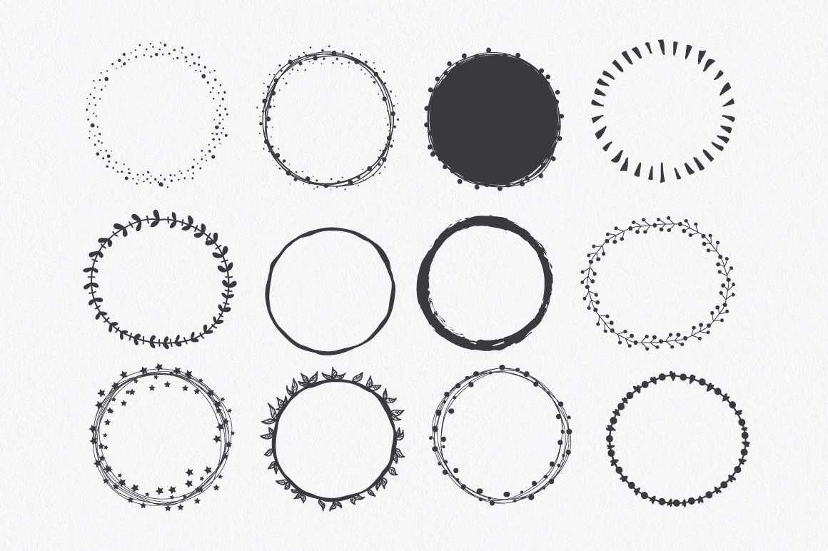Hand Drawn Circle Shapes - Logo elements example image 3