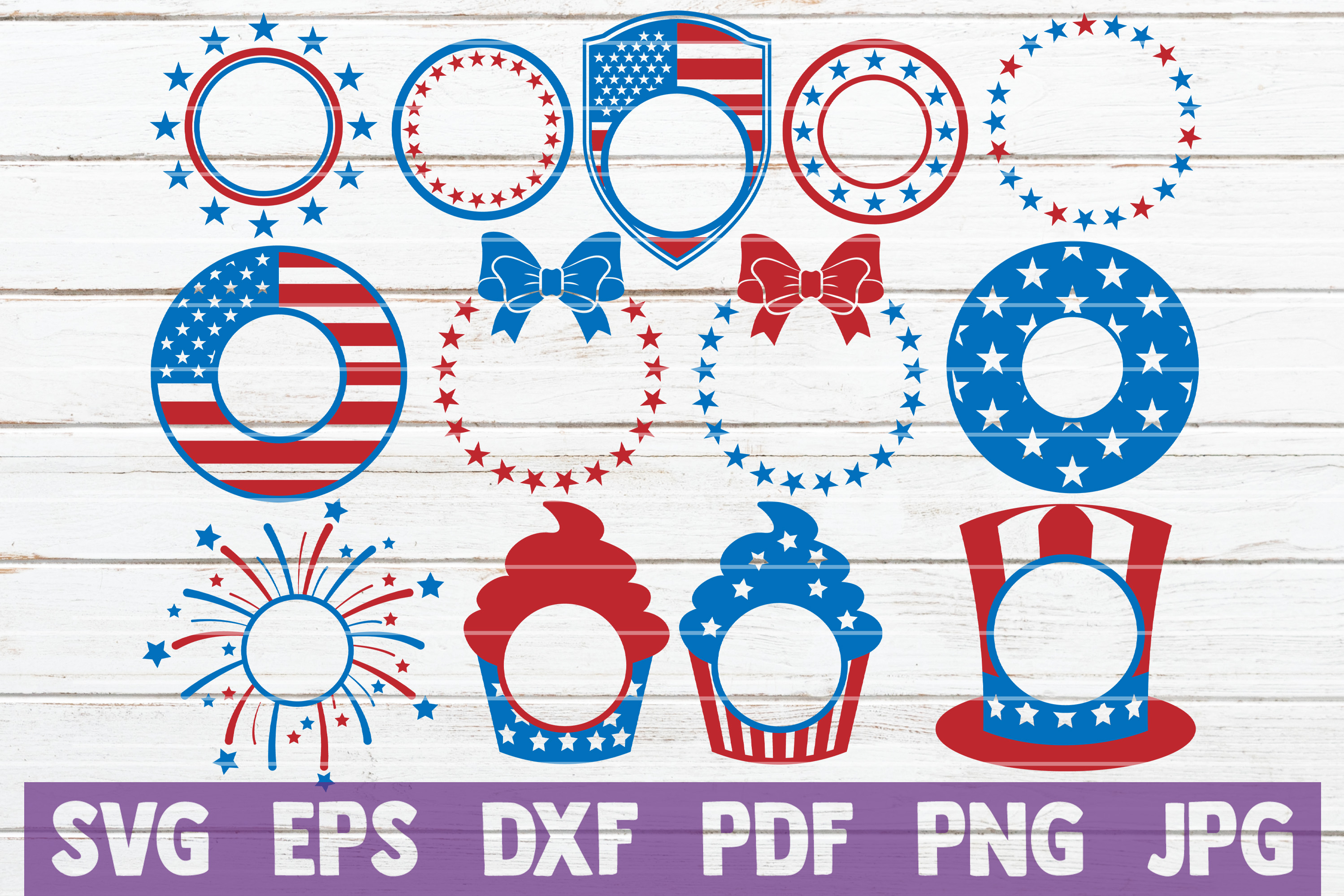 4th of July SVG Bundle | SVG Cut Files | commercial use example image 2