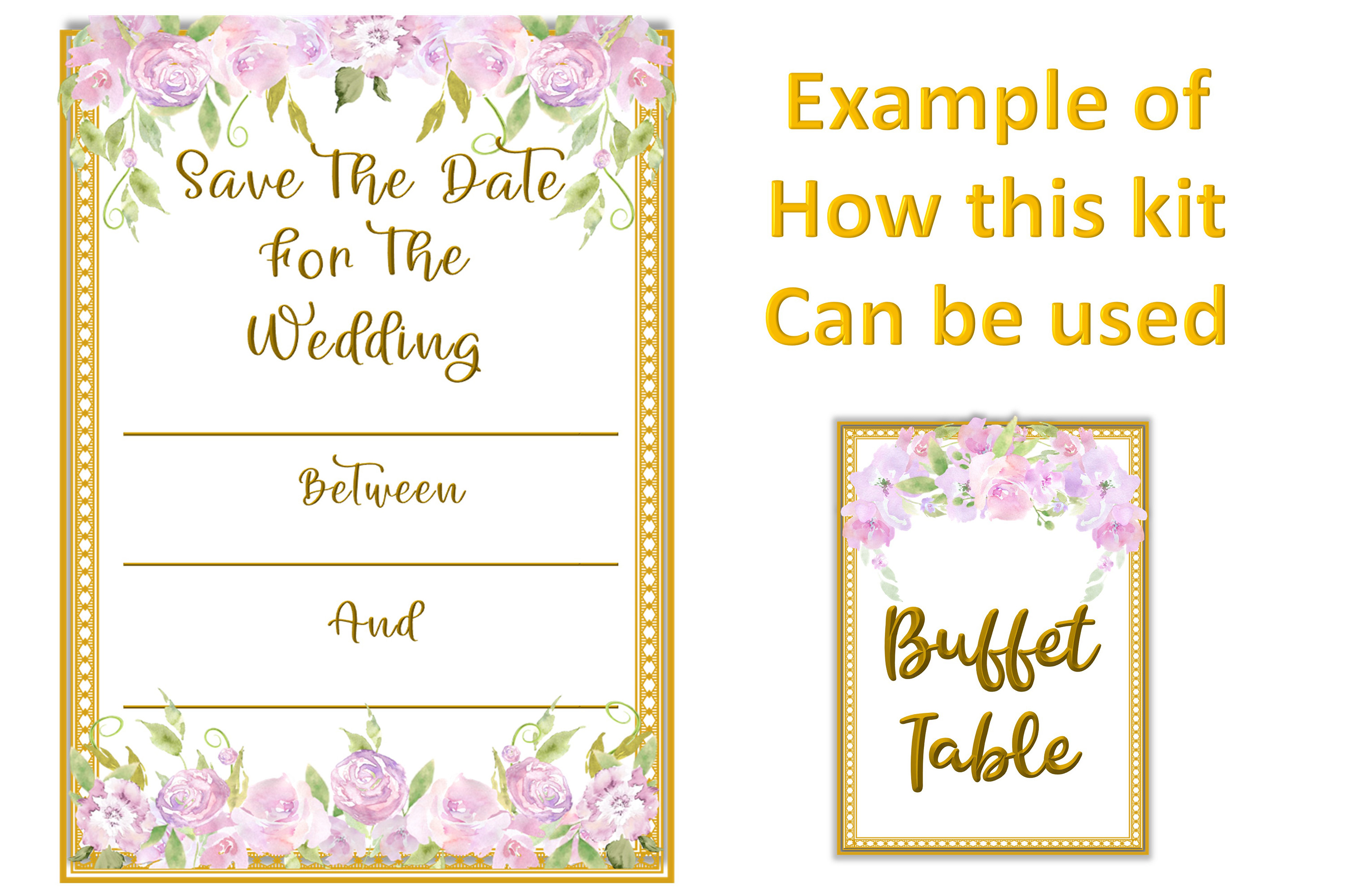 Water colour Wedding Flowers CLipart Kit Commercial Use example image 5