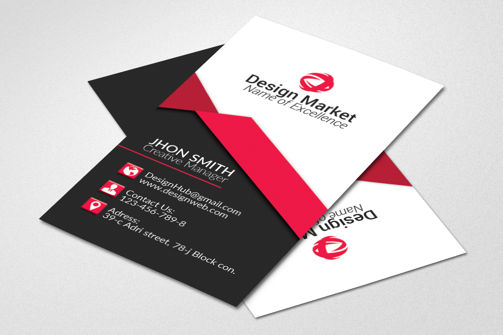 Vertical Business Cards Psd Templates example image 2