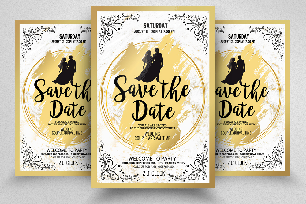 Save The Date Invites Poster template example image 1