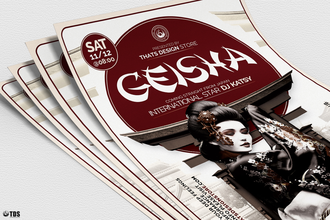 Geisha Night Flyer Template V5 example image 5
