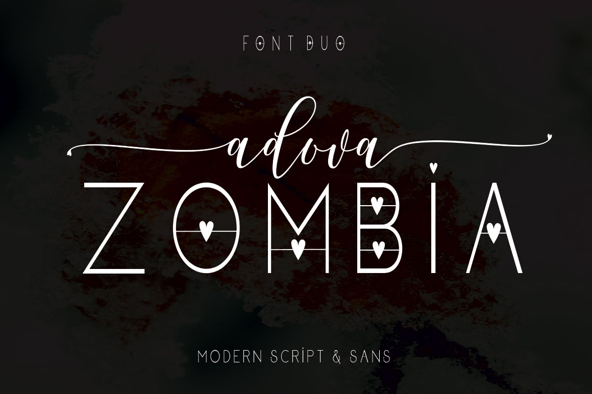 Adova zombia Font Duo example image 9