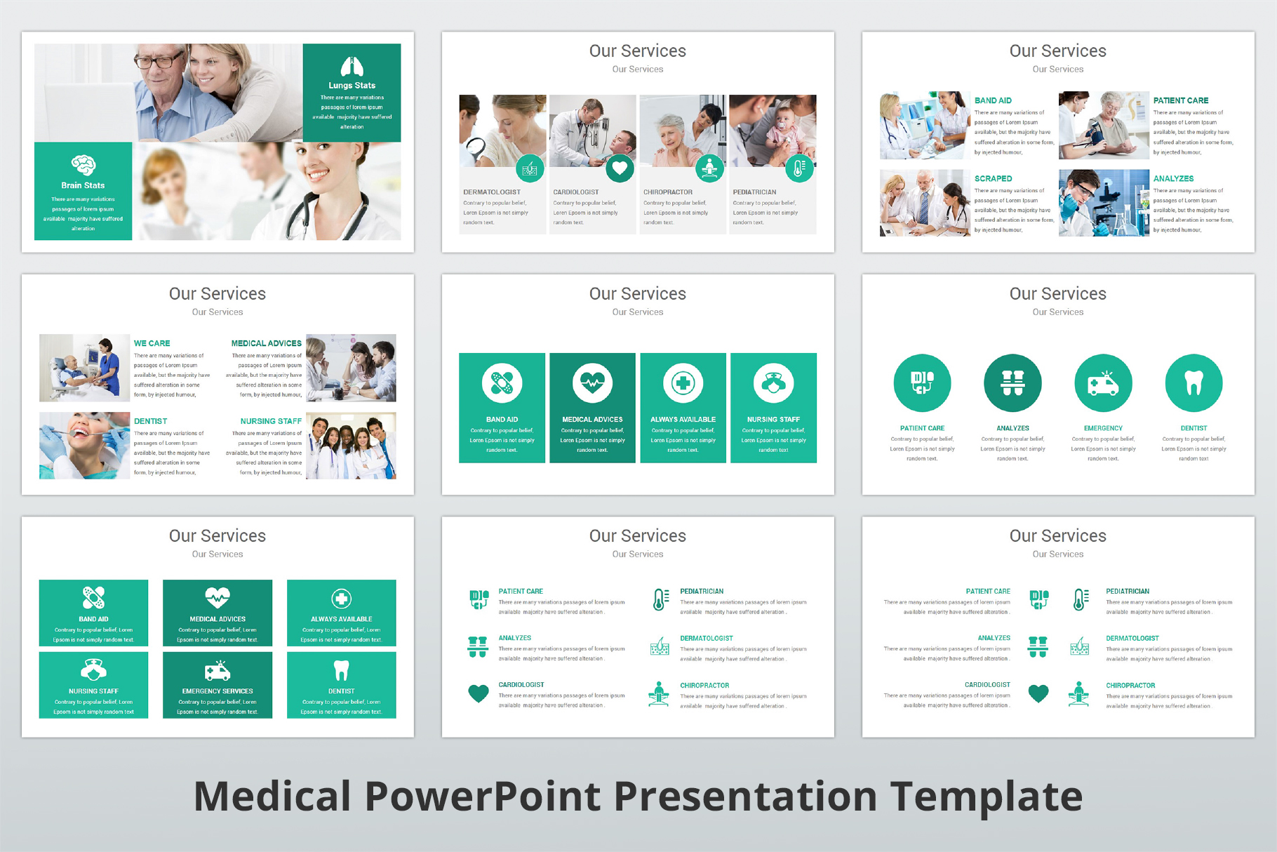Medical and Healthcare Presentation PowerPoint Template example image 10