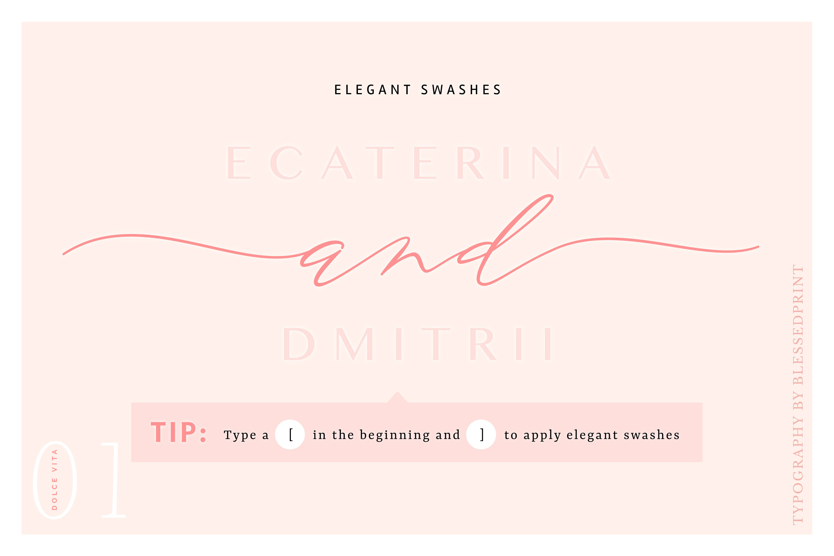 DolceVita - luxury font family with 50 ligatures example image 8