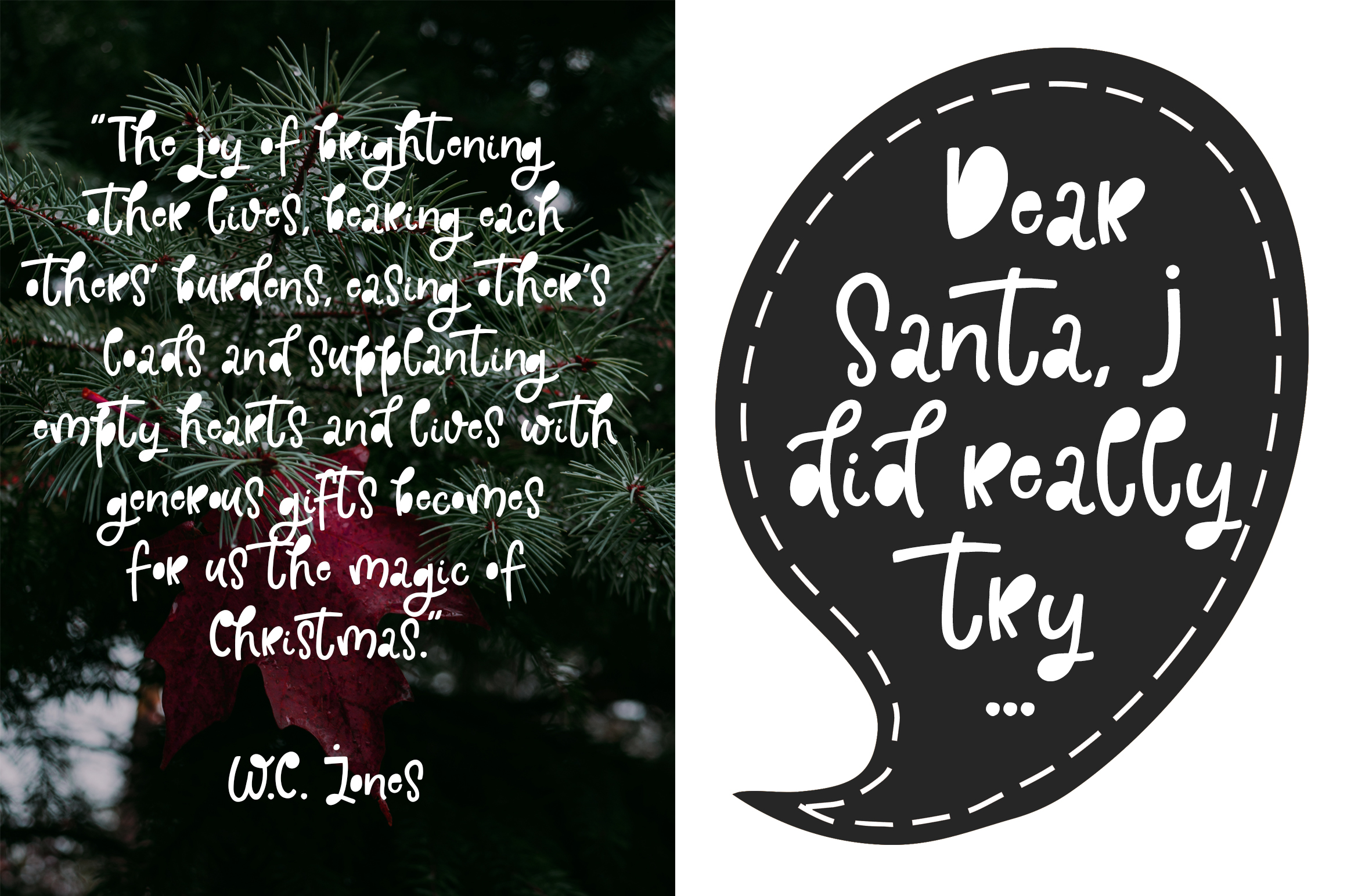 Holly Jolly Font example image 2