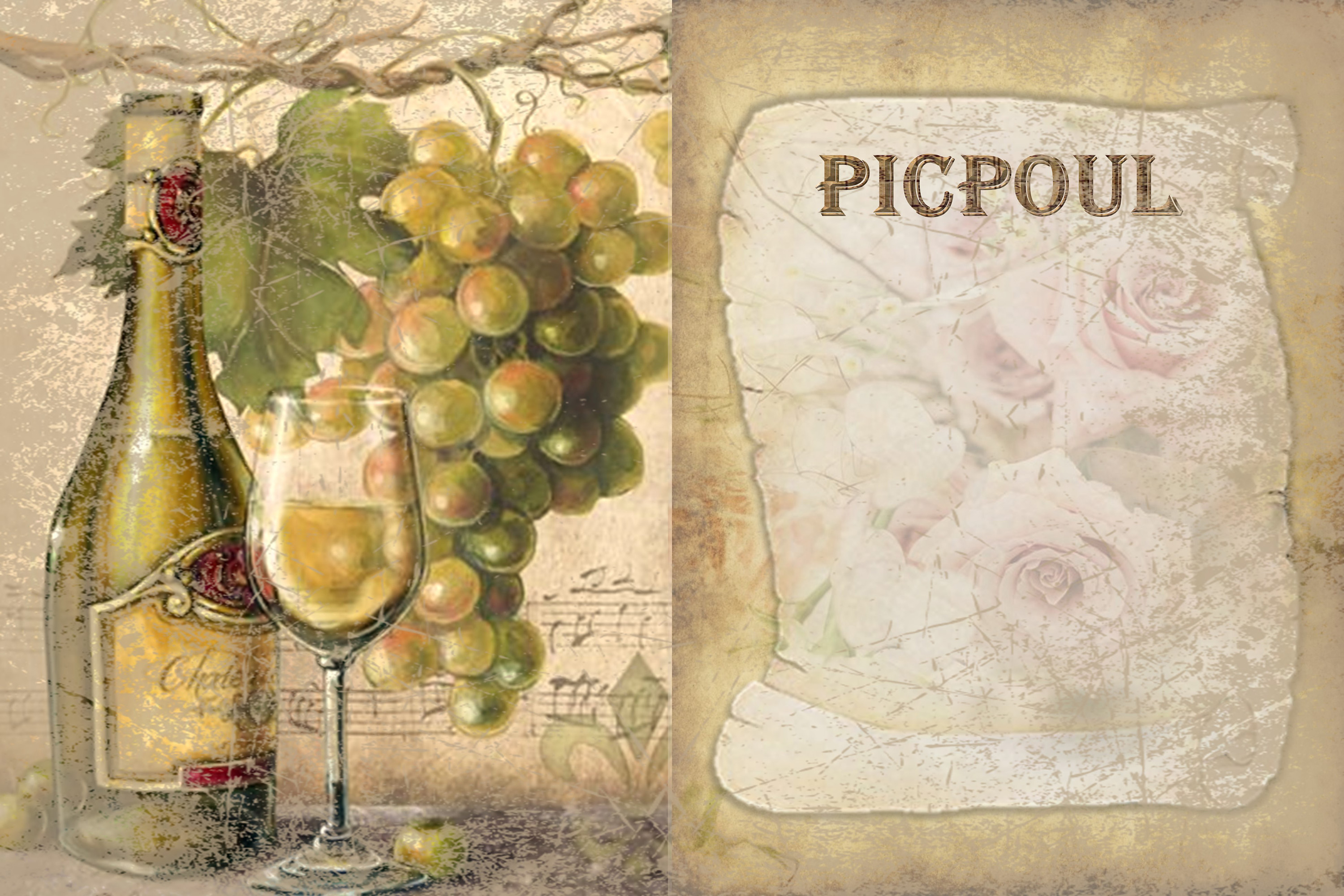 10 Wine Journaling backgrounds printable commercial use example image 6