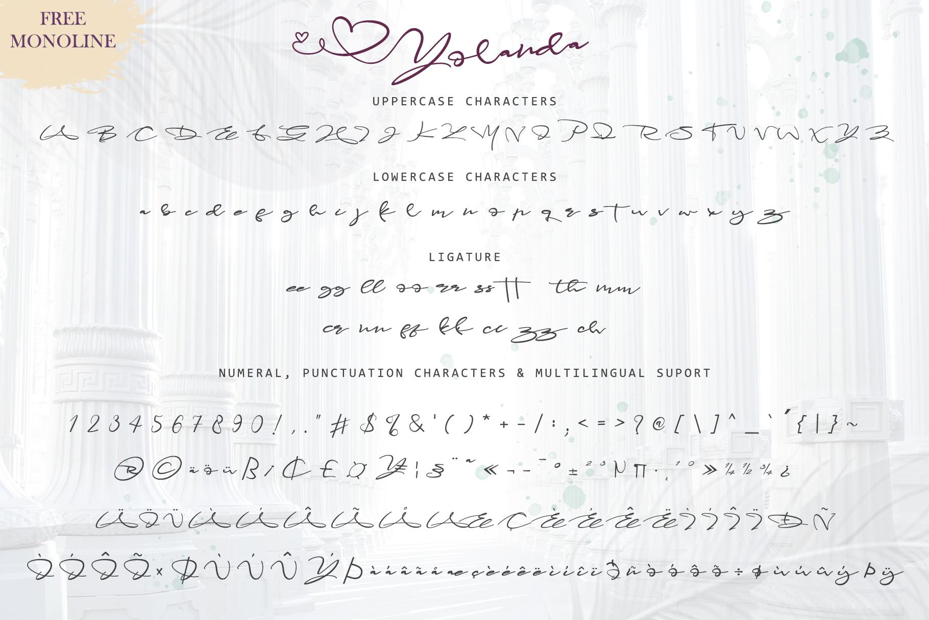 Yolanda Love Script example image 5