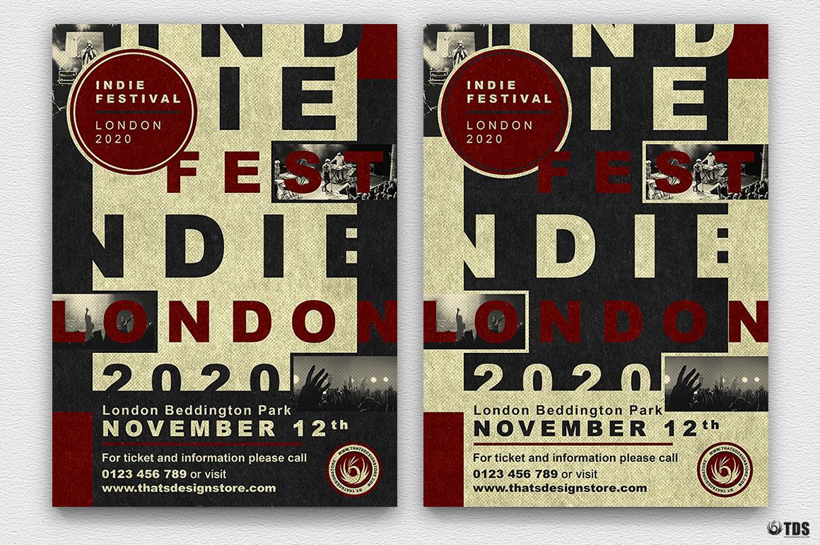 Indie Live Festival Flyer Bundle example image 3