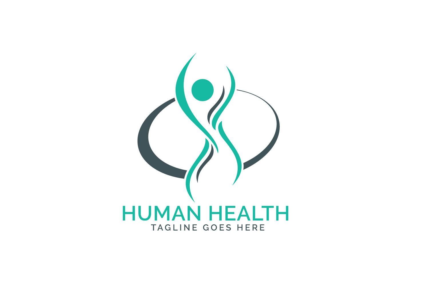 Human health care logo design. example image 1