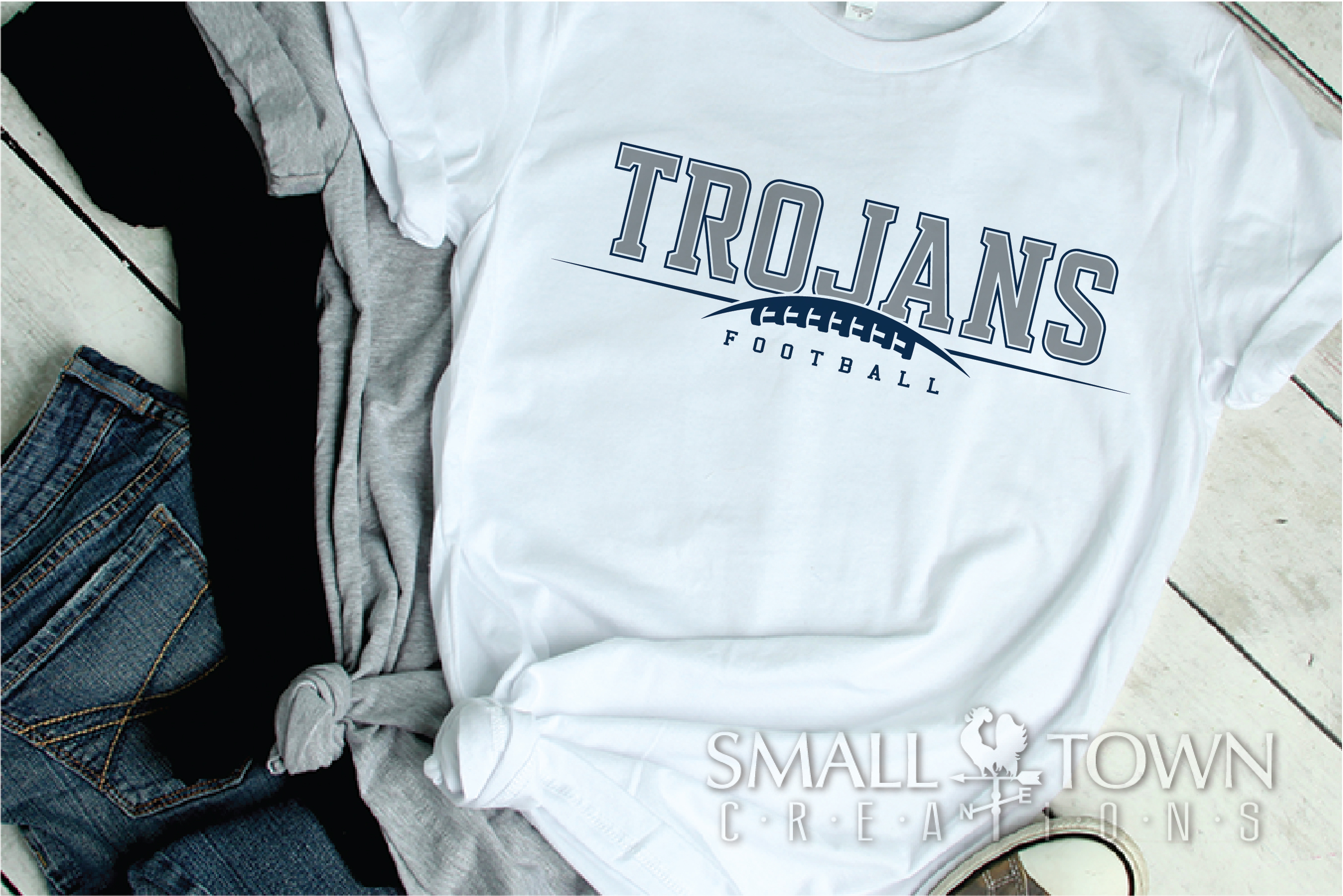 Trojan Football, Team, Sports, Logo, PRINT, CUT & DESIGN example image 2