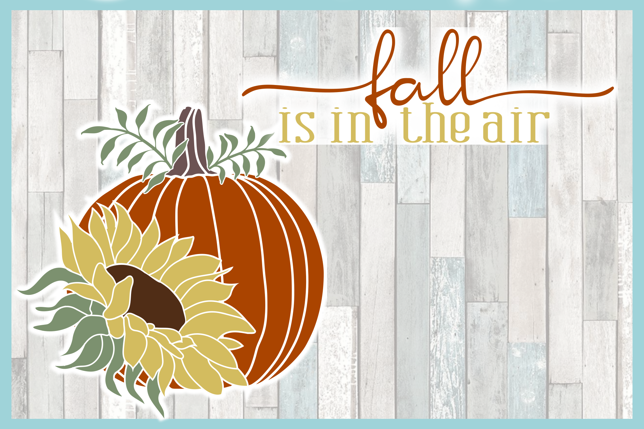 Autumn Fall Quotes Pumpkins And Sunflowers Mini SVG Bundle example image 4