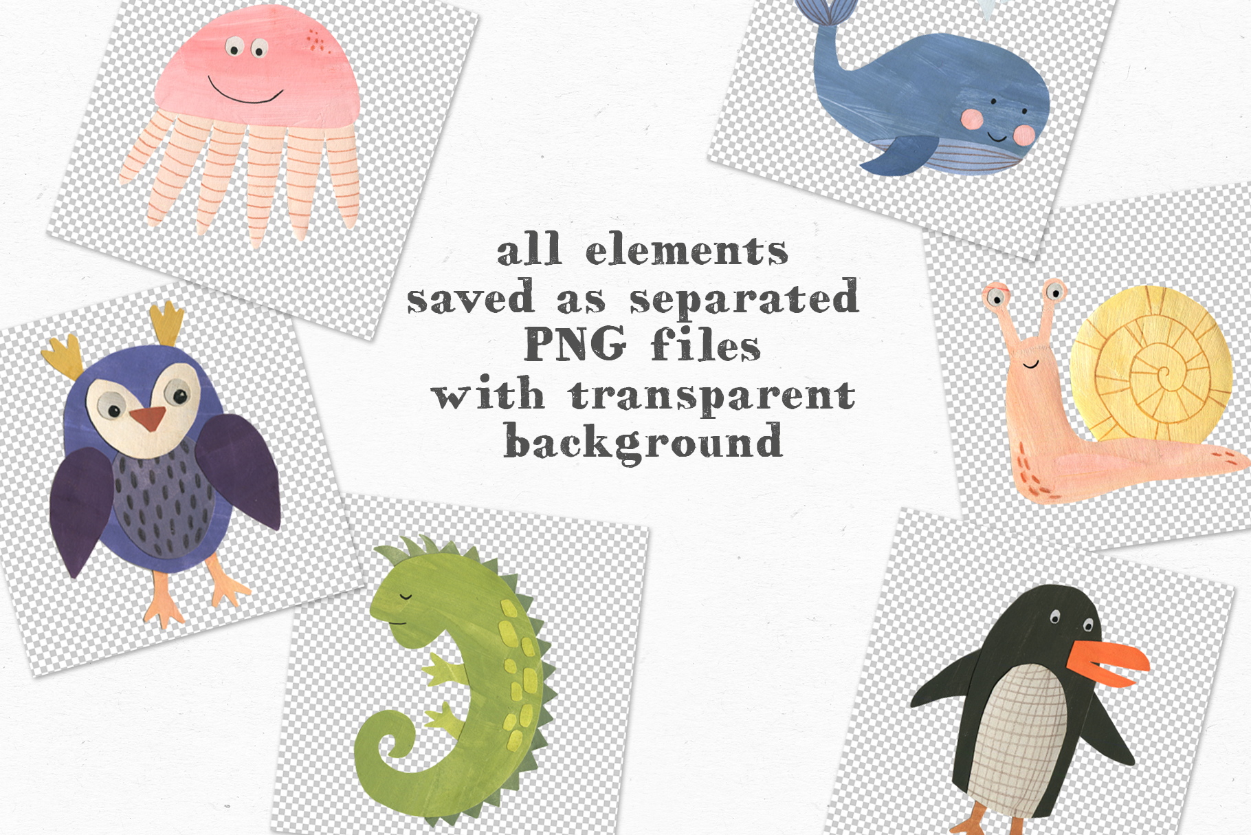 Papercut Animals Clipart example image 7