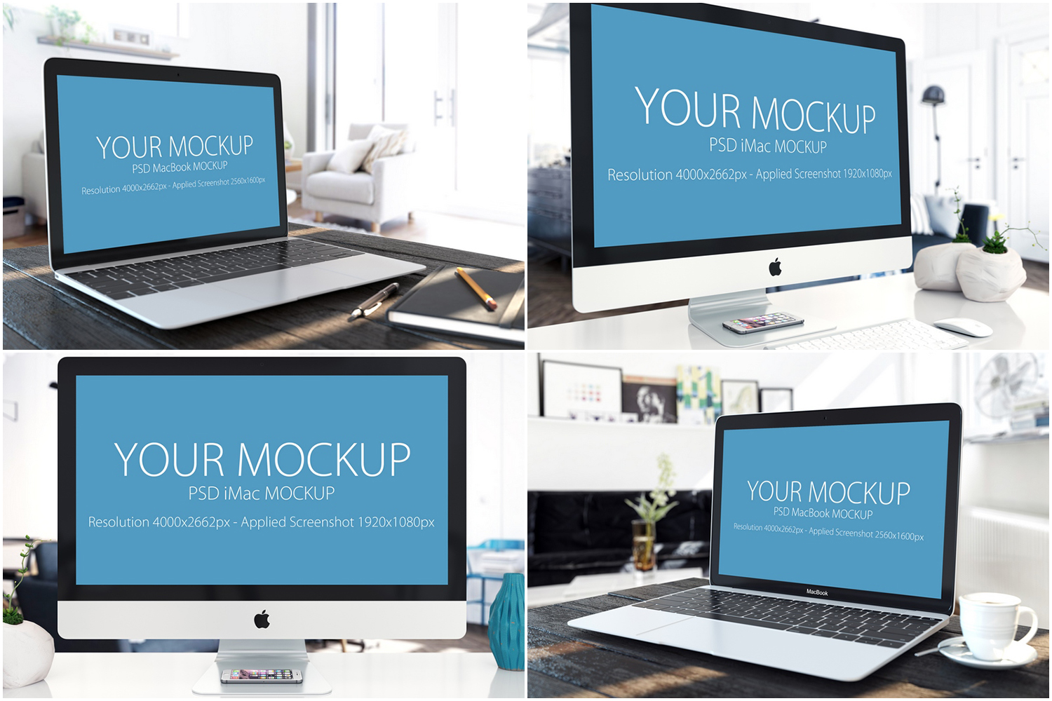 30 PSD Mock-ups Apple Devices example image 8