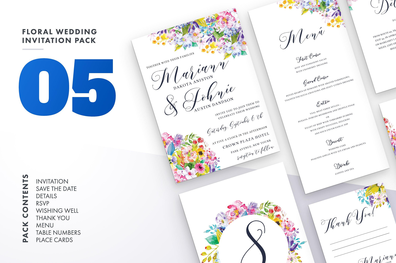 Floral Wedding Invitation Bundle example image 7