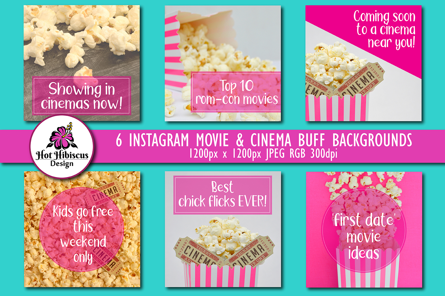 Cinema Movie Themed Instagram and Facebook Backgrounds example image 1